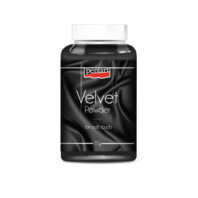 Velúrový prášok čierny
