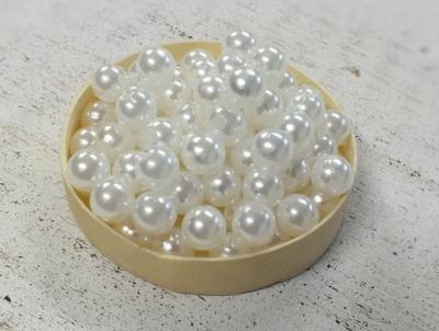 Perleťové korálky 7mm biele 36g