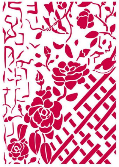 Šablóna Ružičky na plote