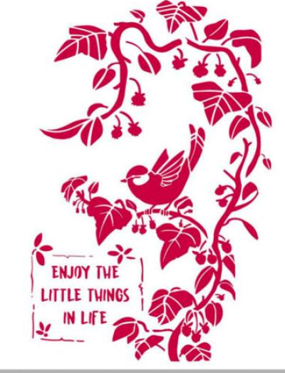 Šablóna Malý vtáčik na konári