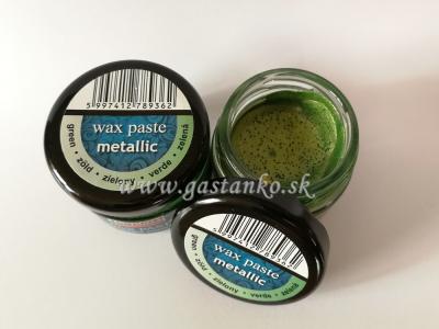 Vosková pasta metalická zelená 20ml