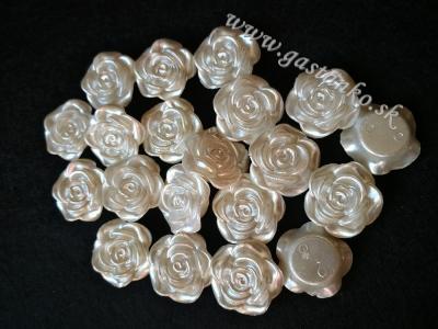 Ružičky 20mm perleťové biele