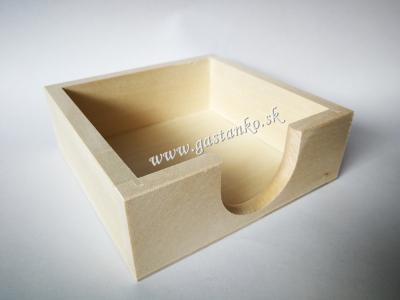 Zásobník na podložky pod poháre alebo poznámkové bločky
