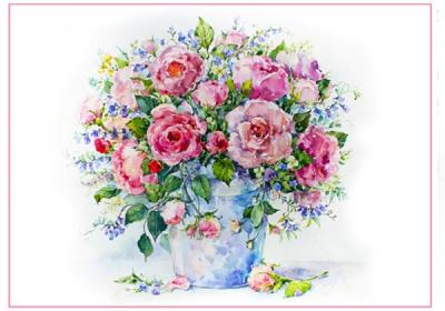 Ružové kvety vo váze veľké