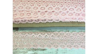 Bavlnená čipka ružová