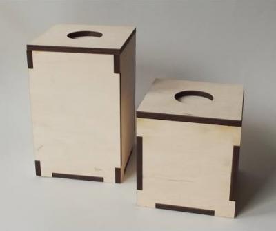 Krabička svietnik+zásobník na čajové sviečky 15cm