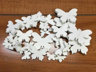 Biele motýle mix 6ks