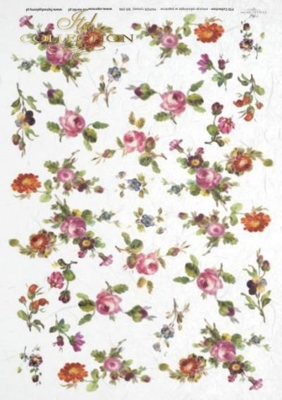RP Drobné pestré ružičky