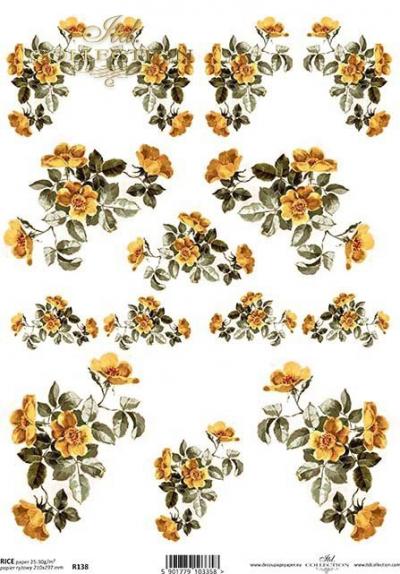 RP Drobné žlté ružičky