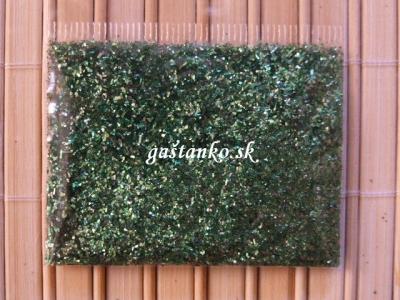 Dekoratívne glitre zelené