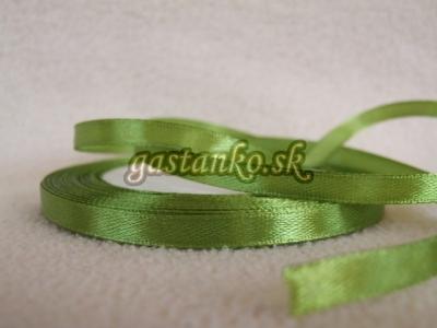 Saténová stužka 6mm oliva