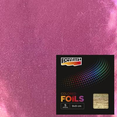 Plátky farebnej fólie pink