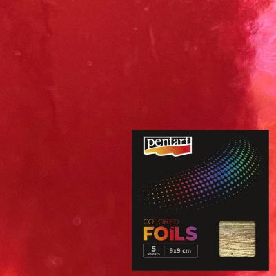 Plátky farebnej fólie červené