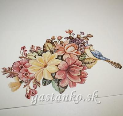 Transfer Vtáčik a kvety