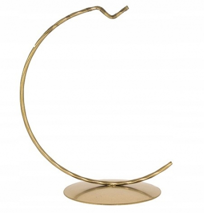 Kovový stojan 16-12cm na závesné ozdoby zlatý