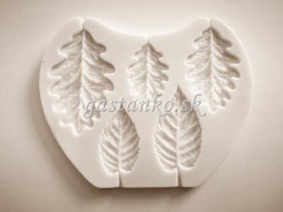 Silikónová forma Brezové a dubové listy